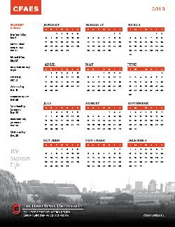 2019 CFAES Calendar